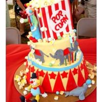 Sons 3Rd Birthday Cake I did a circus theme for my sons 3rd birthday. I saw this cake on Sugar Creations and loved it. I just added clowns, lion and a seal. The...