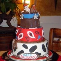 Baby Buckaroo Fondant covered