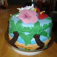 Tropical Thanks for the many ideas from CC. All fondant...with cookie crumbs for the sand.