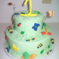 Dragonflies, Bumblebees And Other Bugs   Made for a little boy. Bugs are all fondant.
