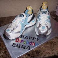 Running Shoes I made these cakes for my girlfriends surprise birthday party. She loves to run. One is chocolate, the other is white cake both with...