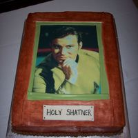 William Shatner Picture Cake This is a groom's cake for a William Shatner fan.