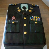 Class A Army Uniform   WASC with raspberry filling covered in MMF. All medals and buttons are MMF covered in luster dust.