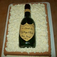 Champagne Bottle   Carrot cake base with RKT bottle covered with MMF.