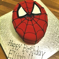 "Spiderman Cake Saw a similar picture on Flickr (not sure who the credit goes to). But this was a super easy cake to make. Carved, three-layer, 10""..."