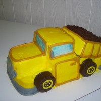 Dump Truck Cake All Buttercream