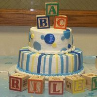Baby Shower Cake This was my first cake using fondant accents. I am new to cake decorating scene. I love the detail and the artistic work involved. I...