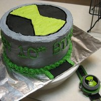 Ben 10 Decorated with buttercream and fondant accents.