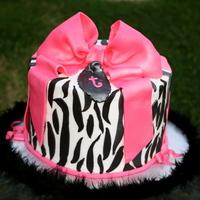 Zebra And Pink I posted this cake earlier and didn't like how it look so I went back and added more stripes.. I'm extremely Happy with the cake...