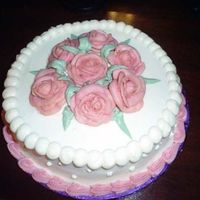 Final Cake For Wilton Course 1 Roses Oooo roses, pratice pratice and more pratice.