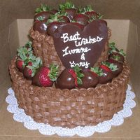 Strawberry Basketweave Cake