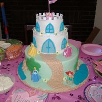 118997015120866.jpg This is a castle cake I did for my daughter's 5th birthday. I used part of the decopac princess castle kit. It is a 6,8, and 12....