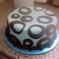 Blue Circles So I'm watching Who's Wedding is it Anyway and there is this awesome blue and chocolate brown cake on there. I had to do it. The...
