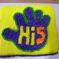 Hi-5 Cake   This is my fisrt ever cake!