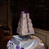 Christmas Time Wedding Cake   Ivory Fondant, pearl dusted..