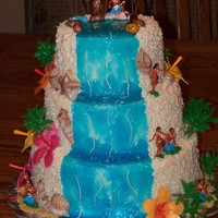 Luau Made this for a 50th birthday. The whole thing is piped with a #2 round tip. This was killer on hands, they hurt for like 3 days afterwards...