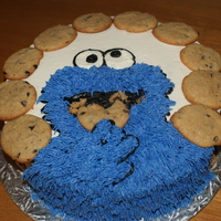 Coookie Monster For Chris Cookie monster cake!