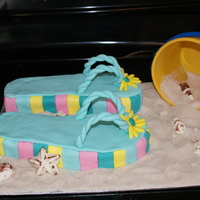 Flip Floppin Fun Flip flops to go with my daughters theme for her party