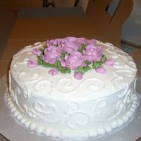 Just A Practice Cake this is just a practice cake. I was working on the scrolls on the sides of the cake for an upcoming wedding cake.