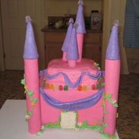 Pink Castle Cake Thanks to all of the great examples on this site, I made my first castle cake using fondant for the first time for my 5 year old's...