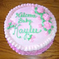 A Cake To Welcome Home My Niece I made this cake for my sister-in-law's new daughter. It was a last minute thing, they didn't even know i was making one. I did...