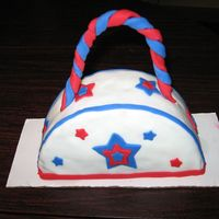 Holiday Purse made this cake for the 4th of july. covered with fondant