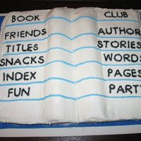 Book Club made this cake for the book club at school. icing is buttercream, book cover ic fondant