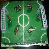 Soccer Field Made this for my nephew's birthday recently. He was happy with the cake.