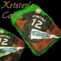 Blue Jays Jersey CBC and BC covered cake with fondant accents. This was my first attempt at a Jersey cake - please leave some constructive criticism! :)...