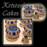 R2D2 Cupcakes R2D2 Cupcakes - fondant accents on BC.