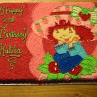 "Strawberry Shortcake Strawberry Shortcake I did for my ""adopted"" niece. Very fun to do after I did 4 boy cakes in a row."