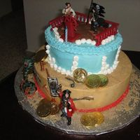 Captain William Enrique Pirates cake, sugarshack buttercream
