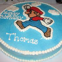 Mario Cake Another view of my 1st frozen buttercream transfer. Was so fast and easy.....I will be sure to use this technique over and over again!