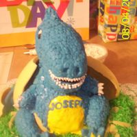 100_1263.jpg My 3rd 3D cake! Baby dinosaur hatching out of an egg! I used fondant, rice crispi and bc cake! I want to say thank you to all my aim...