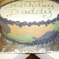 Camouflage Cake Side View