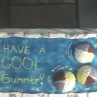 Swimming Pool This is the first cake I have decorated. It is a pool with beach balls in it and I made this cake for my daughter's class before the...