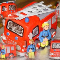 Fireman Sam For A.J.'s third birthday, who loves ALL things fireman. It broke my heart to see it ripped to pieces within minutes of our arrival (...