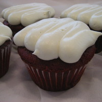 Red Velvet Cupcakes Red Velvet cupcakes with cream cheese frosting.