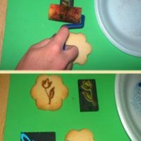 Stamp Method On Sugar Cookie  using the exact method on Fondant you are able to stamp unfrosted sugar cookies out of the oven.for chocolate sugar cookies I would...
