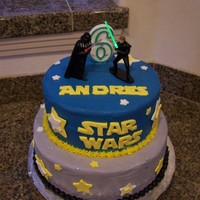 Star Wars Buttercream icing with fondant accents.