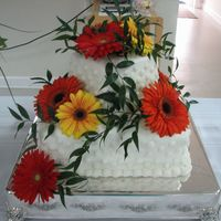 Gerber Daisies   did this for a friend. we had them a shower/reception.