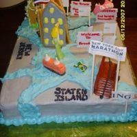 New York City Marathon I made this cake for a couple who ran the New York City Marathon when they got engaged. I laid out the course with the mile markers and...