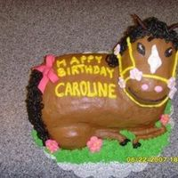 "My Favorite Horse Cake I made this cake based off of another done by ""Cakes by Suzy"". Her cake is beautiful and I was so glad to have a chance to try..."