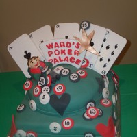 Poker Cake I made this cake for my husband's 50th birthday. All edible!