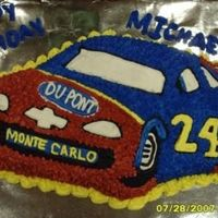 Jeff Gordon Cake! My son's favorite driver is #24! Goooooo Jeff!!