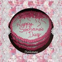 Sopranoscake.jpg Hello to all and thanks for your time! Happy Sopranos Day! I know I have to work on my writing! LOL. It is sloppy, how do ya'll write...