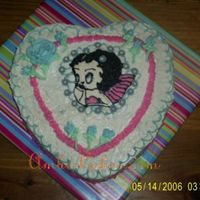 Betty Boop Heart Cake Hello there! This is a heart shaped Betty Boop cake made for my Mother-in-law. Vanilla cake with buttercream. Buttercream flowers and...