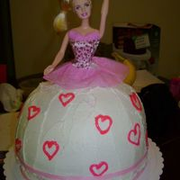 Barbie Birthday Cake Hello and thanks ya'll for viewing my pic! This is a chocolate cake all iced in buttercream. Took along time to do, but it was okay...