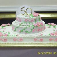 Big 50Th Birthday Cake I made this Huge 50th birthday buttercream cake for my sister in law-Thanks to gmcakes here on CC. She helped me so much. I used yellow and...