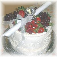 Wedding Cake Sampler This is a sample we gave to a bride. We did her wedding cake, which I'm looking for the pic of, it was this cake only 3 layers,tall w...